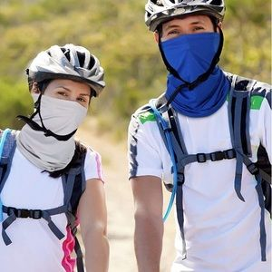 Protection   Blue Face Mask / Head Wrap